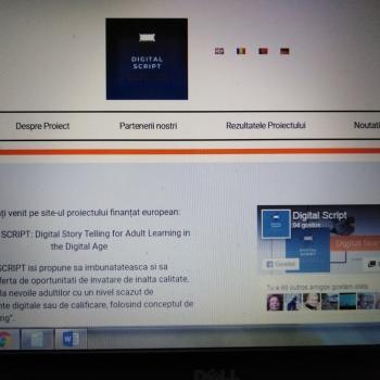Am lansat site-ul proiectului Digital SCRIPT!