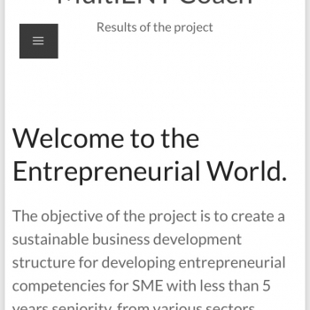 Am lansat platforma pentru antreprenori  MultiENT Coach Online Support System!