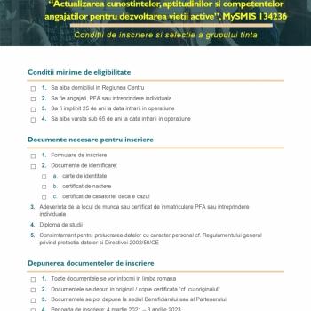 Sunt disponibile formularele de inscriere a angajatilor la cursurile gratuite!