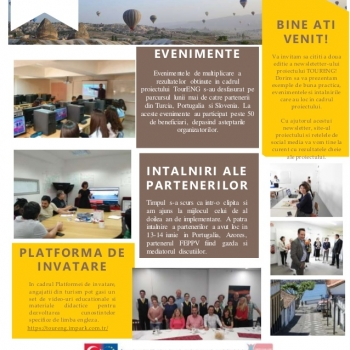 Am publicat newsletter-ul proiectului international TourENG