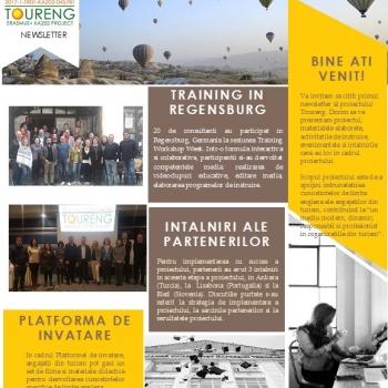 Am publicat primul newsletter al proiectului international TourENG