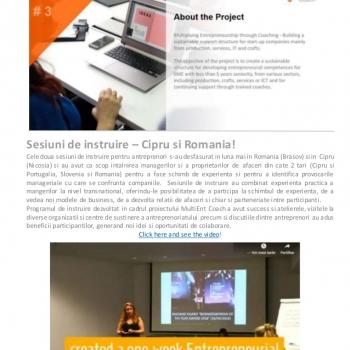 Noutati din proiectul international MultiENT Coach!